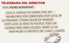 Telegrama para Pedro Agramunt