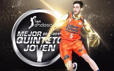 La ACB incluye a Sergi García en el mejor quinteto joven de la Liga