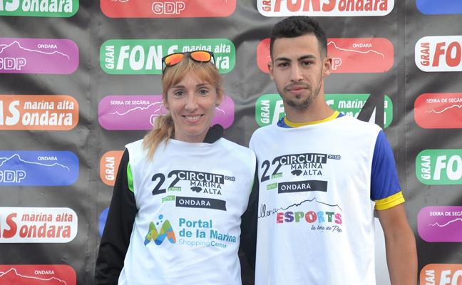 Nizar Lakhlifi y Mª Isabel Ferrer ganan la vigésima Cursa Popular a Ondara