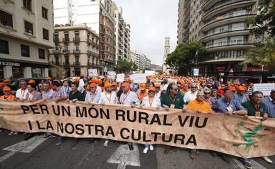La marea rural ya toma Valencia