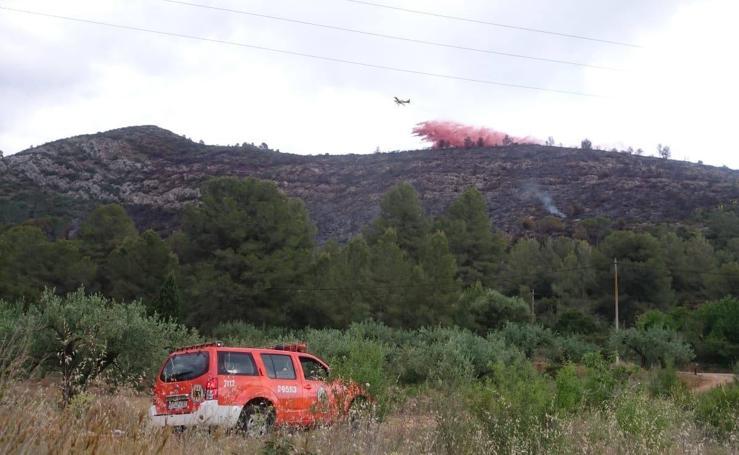 Un incendio obliga a desalojar a 60 personas de una zona de pic-nic de Genovés