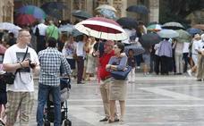 Aviso amarillo ante el riesgo de fuertes lluvias hoy en la Comunitat