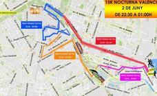 Calles cortadas al tráfico por la 15K Nocturna