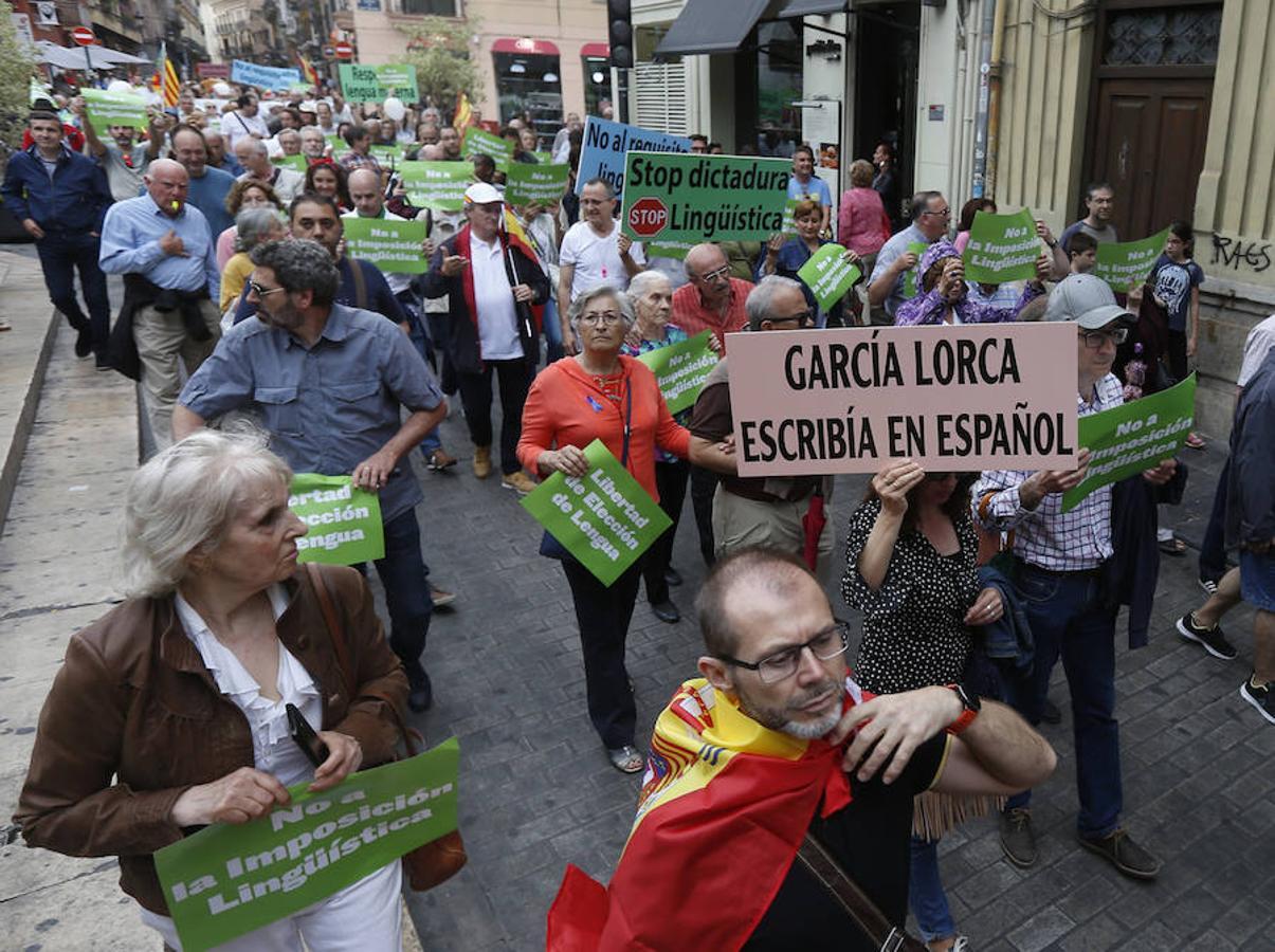 Fotos de la marcha por la libertad de elección de lengua