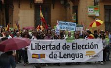 Padres y profesores reclaman en una manifestación en Valencia poder elegir la lengua de enseñanza