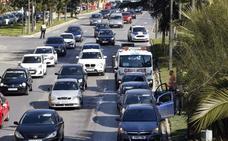 Los accidentes con heridos se disparan en la avenida del Cid tras retirar las pasarelas