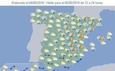 Las tormentas llegan hoy a Valencia con lluvias de hasta 30 l/m2 en una hora