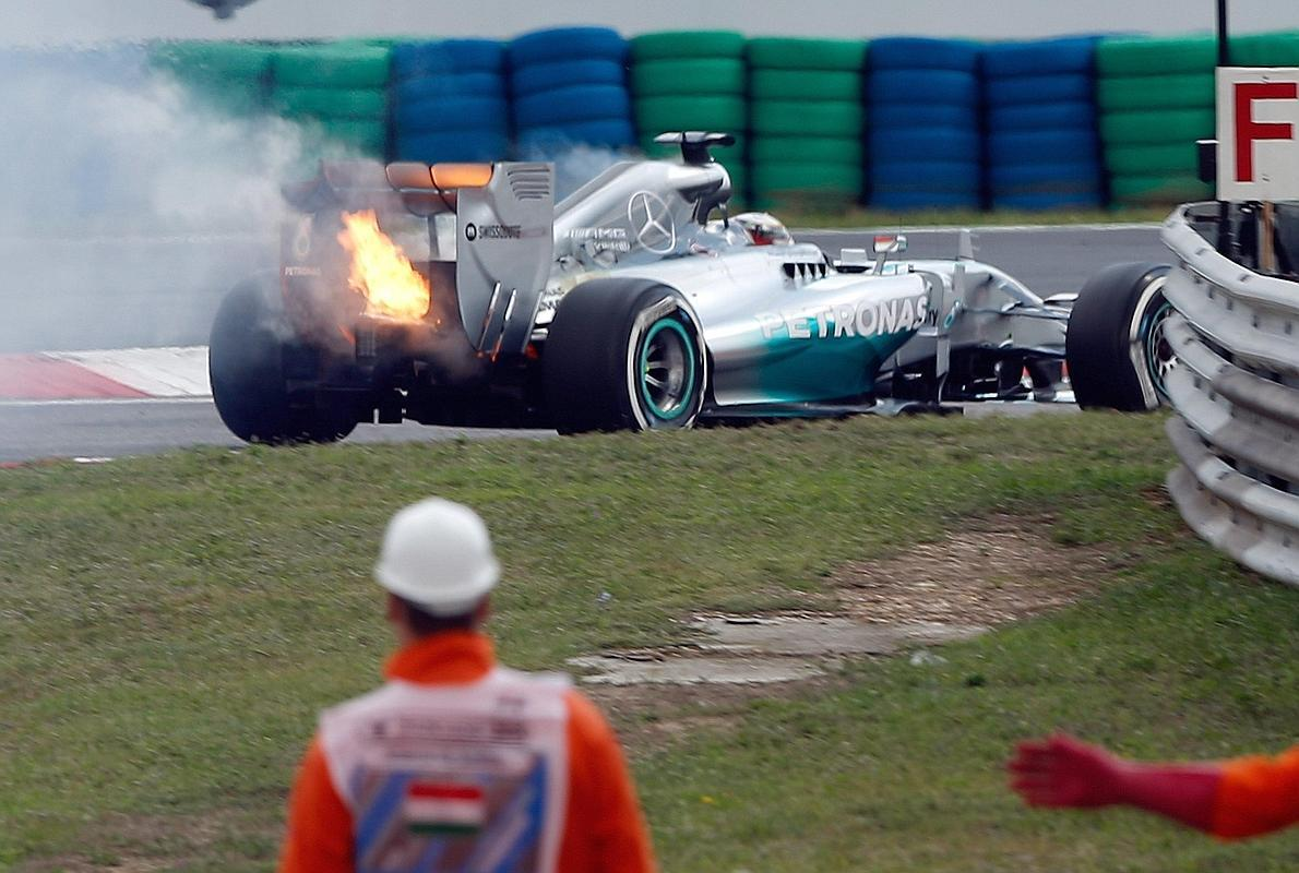 Rosberg, 'on fire'