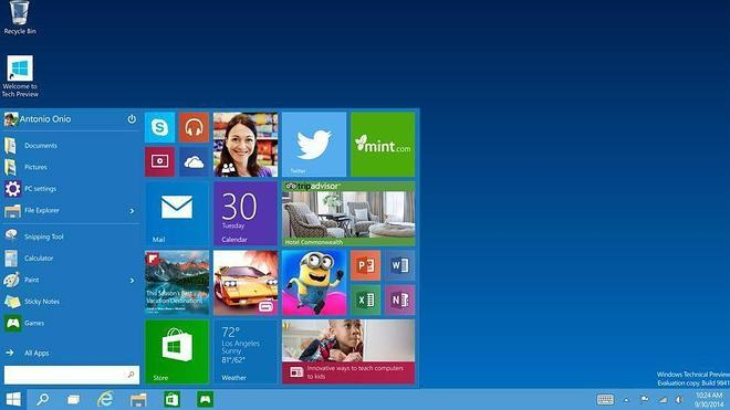 Microsoft revitaliza el escritorio en el nuevo Windows 10