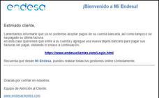 Cuidado: detectan un nuevo caso de phishing con facturas falsas que suplanta a Endesa