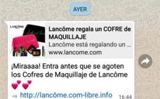 ¡Cuidado! Lancôme no está regalando maquillaje a través de Whatsapp