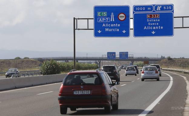 Precio del peaje en la AP-7 entre Valencia y Alicante para ir a las playas