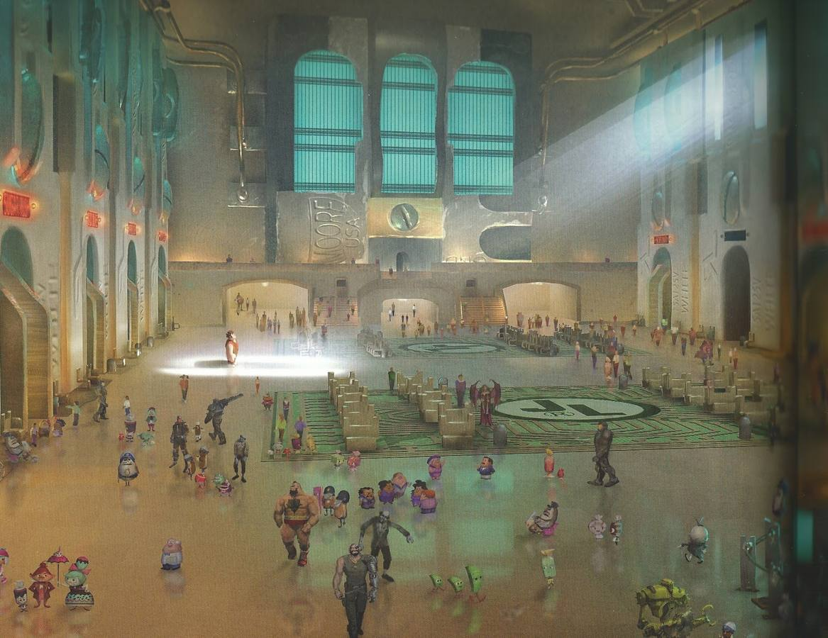 ESTACIÓN DE ROMPE RALPH- TERMINAL GRAND CENTRAL, EEUU