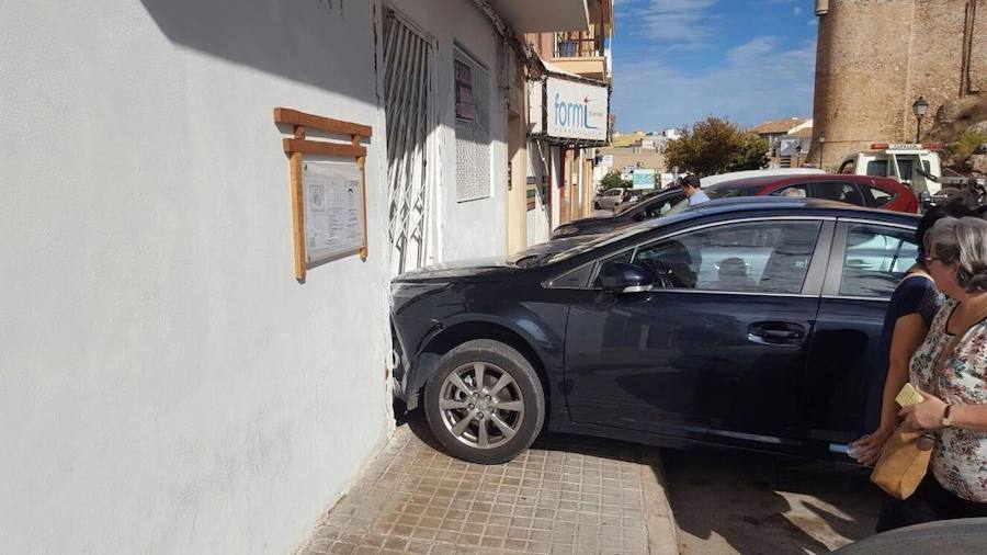 Fotos de un accidente en Dénia