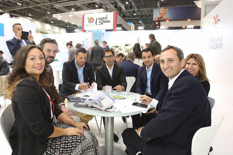 César Sánchez en la feria World Travel Market de Londres