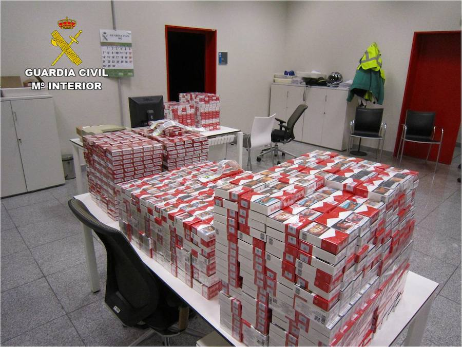 La Guardia Civil interviene 4.100 cajetillas de tabaco ilegal