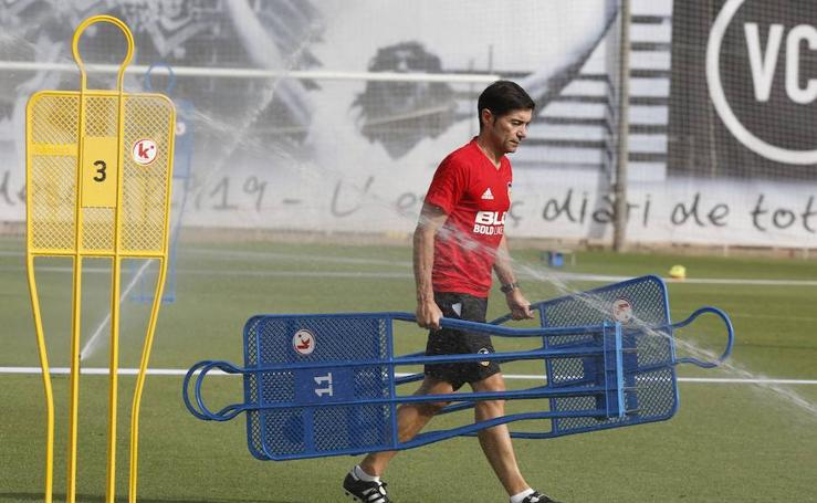 Fotos del entrenamiento del Valencia CF