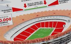 El Valencia CF derribará parte de la grada del nuevo Mestalla