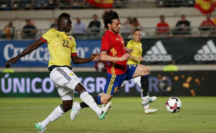 El amistoso entre España y Colombia, en imágenes