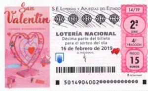 Comprobar Lotería Nacional del sábado 16 de febrero. Sorteo especial de San Valentín