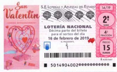 Lotería Nacional de ayer sábado 16 de febrero. Sorteo especial de San Valentín
