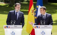 Macron, sobre Cataluña: «Sólo conozco un socio y un amigo, España»