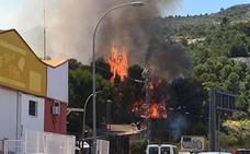 Estabilizado el incendio cercano a una urbanización de Real de Gandia