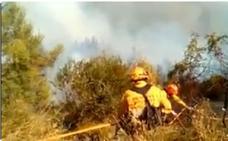 Así trabajan las brigadas forestales en el incendio de la Sierra Calderona