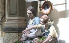 Los ninots indultats, en el Salón de Cristal del Ayuntamiento de Valencia