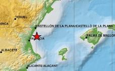 Terremoto de magnitud 2,8 en el Golfo de Valencia