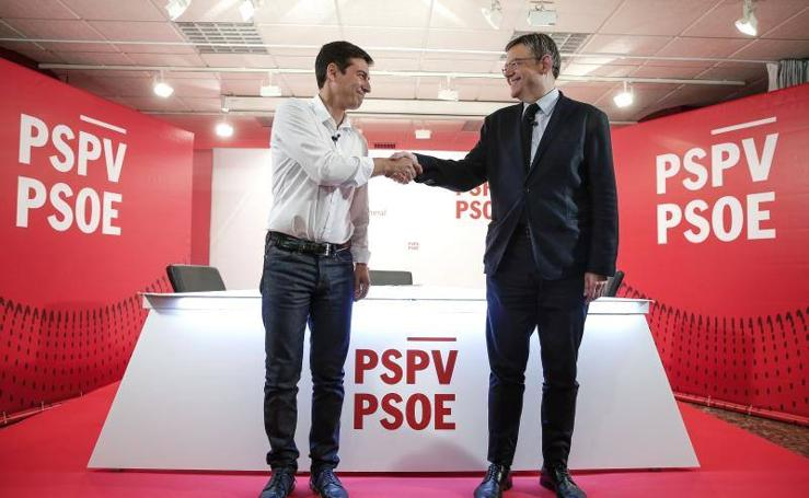 Fotos del debate entre Ximo Puig y Rafa García previo a las primarias a la secretaría general del PSPV