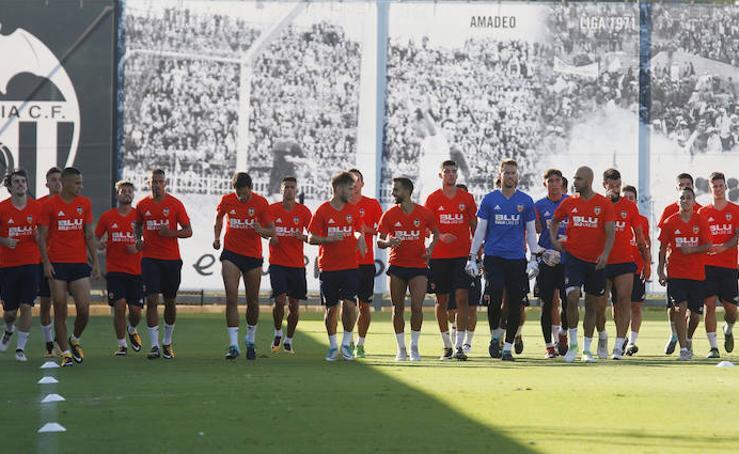 Fotografías del entrenamiento del Valencia C.F.