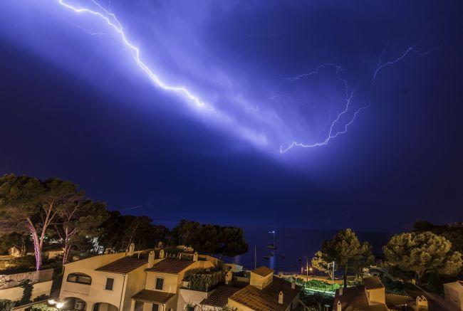 Fotos de la tormenta eléctrica en Mallorca