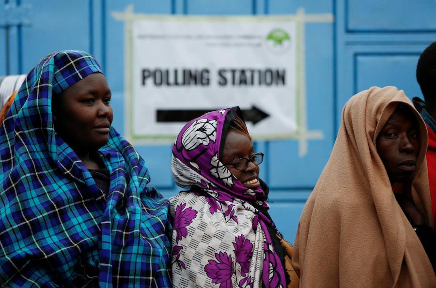 Fotos de las elecciones presidenciales en Kenia