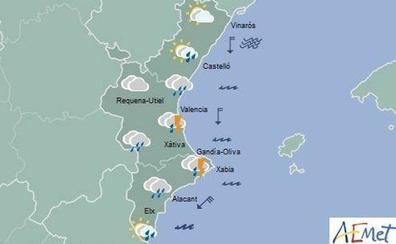 El tiempo en Valencia, Alicante y Castellón | Mañana siguen las lluvias y tormentas fuertes en el litoral de Valencia y Alicante