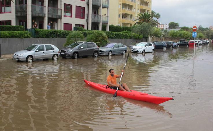 Fotos de las lluvias en Dénia