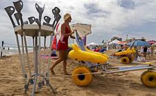 10 playas valencianas cuentan con servicio de baño adaptado