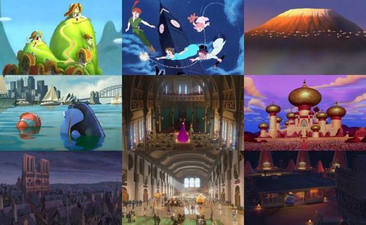 Imágenes de películas Disney inspiradas en lugares reales