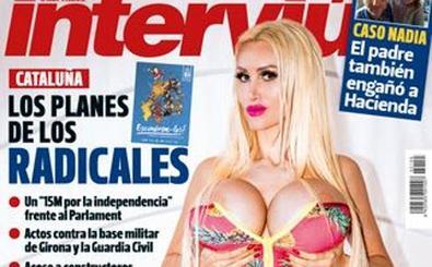 La mujer con los pechos más grandes de España se desnuda en 'Interviú'