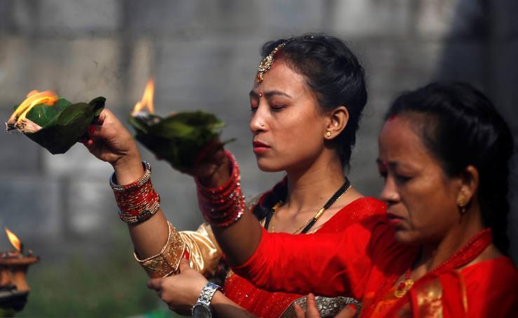Fotos del Teej Festival de Kathmandu, Nepal