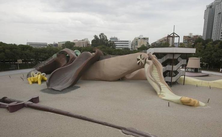 Fotos de la restauración del Parque Gulliver de Valencia