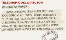 Telegrama para Empar Marco