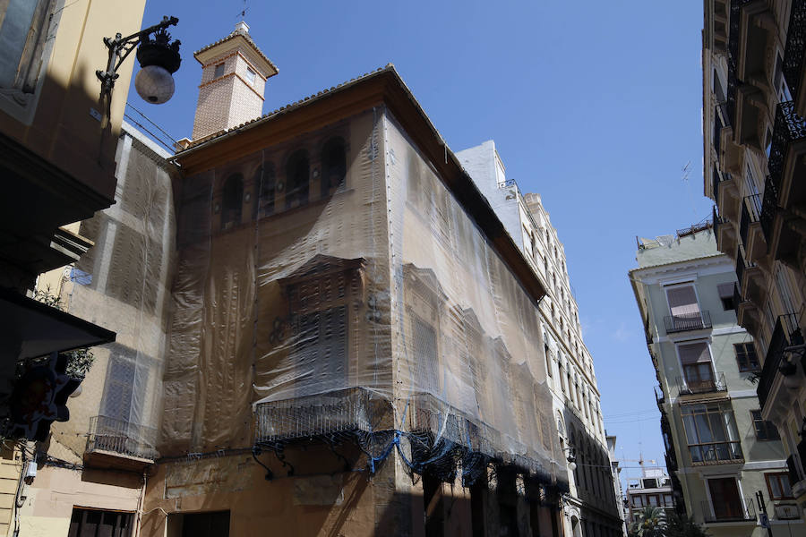 Fotos de la restauración del palacio Valeriola de Valencia