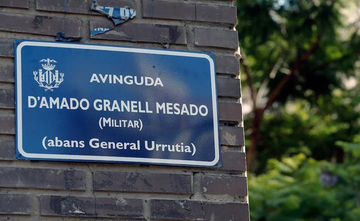 Fotos del cambio de nombre de calles en Valencia
