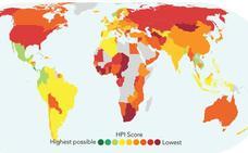 Un mapa interactivo muestra cuáles son los países más felices del planeta