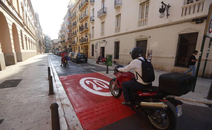 Fotos de los cambios en las calles de Valencia