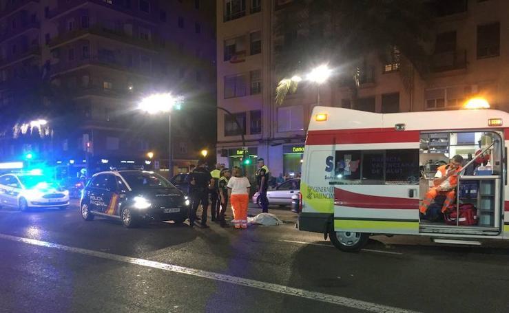 Fotos del atropello mortal en la avenida Cardenal Benlloch de Valencia