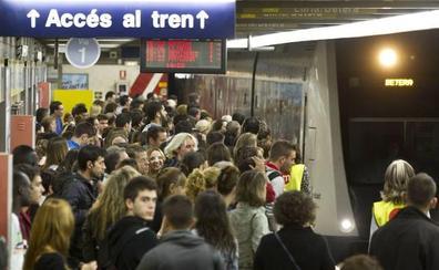El 9 d'Octubre habrá huelga de metro de 24 horas en Valencia