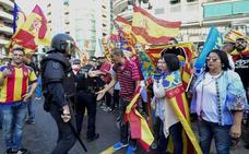 La Policía abre investigación por las agresiones durante la manifestación del 9 d'Octubre en Valencia
