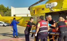 Rescatado un cazador accidentado en el Barranco de les Fonts de Pedreguer